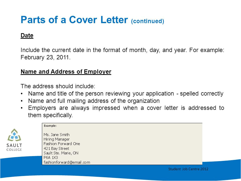 Components Of A Good Cover Letter Cover Letter Writing Ppt Video Online Download