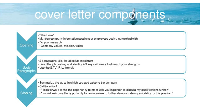 key components of cover letter