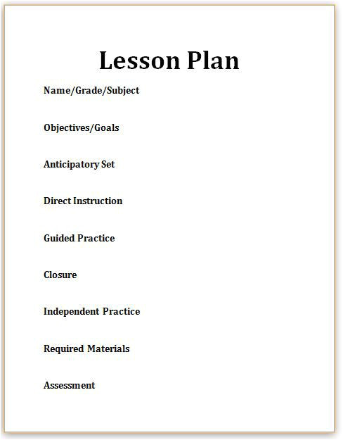 what is a lesson plan 2081359