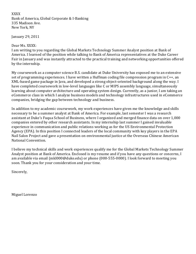 Computer Networking Cover Letter Junior Cover Letter Computer Science