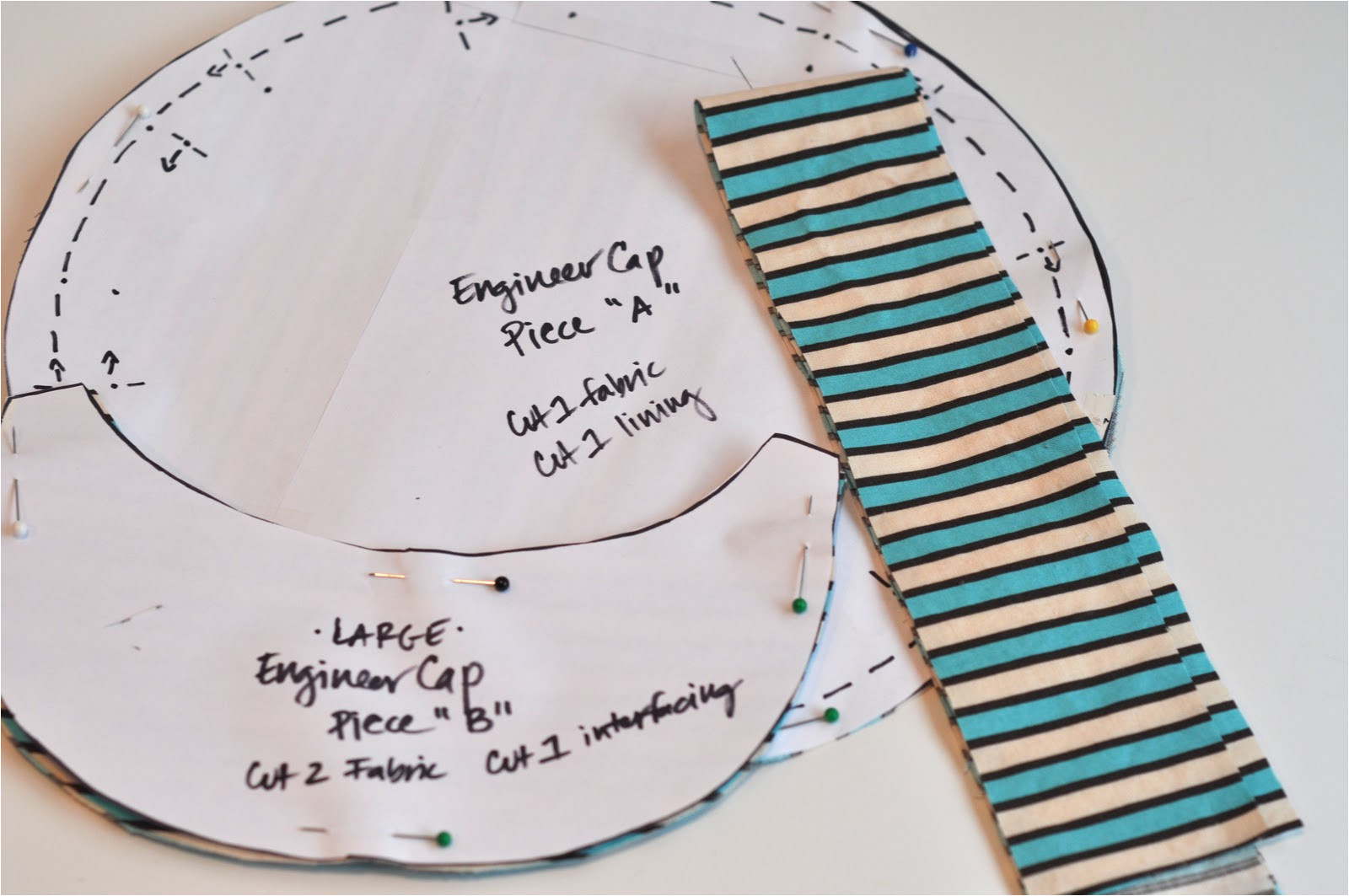 sewing engineer cap oh boy tutorial