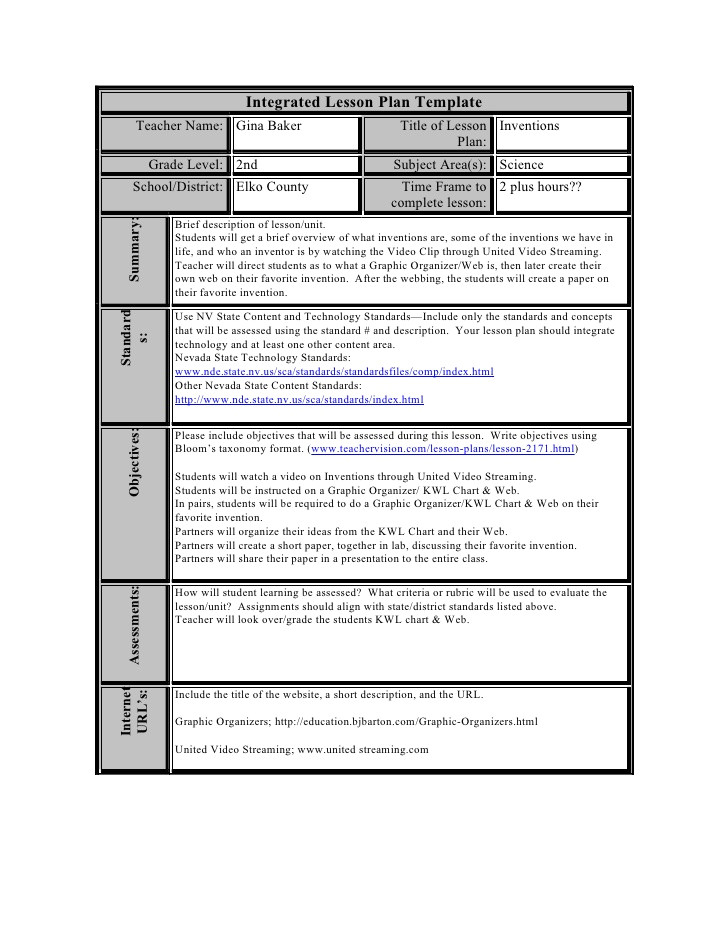 constructivist lesson planning template software free download