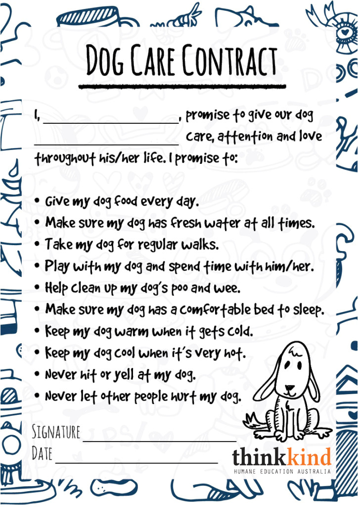 Contract Template for Kids Printables Archives Thinkkind Australia