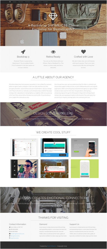 html template to theme
