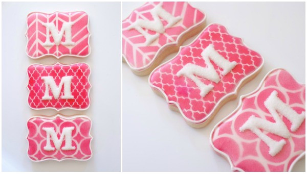 accenting decorated cookies with stencils guest post