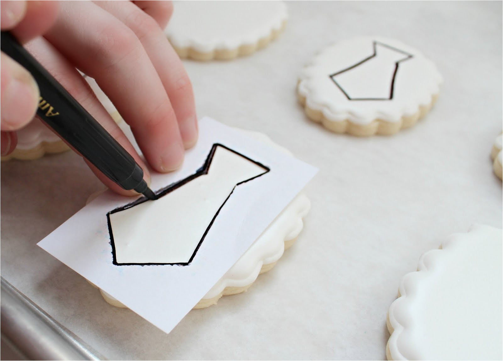 Cookie Stencil Templates Making A Paper Cookie Stencil the Sweet Adventures Of