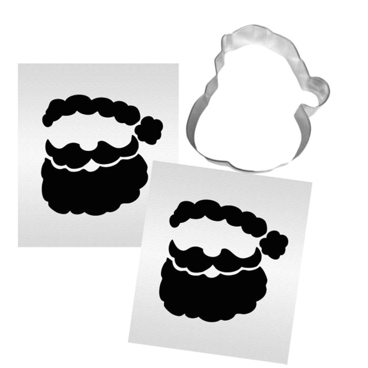 santa cookie stencil set