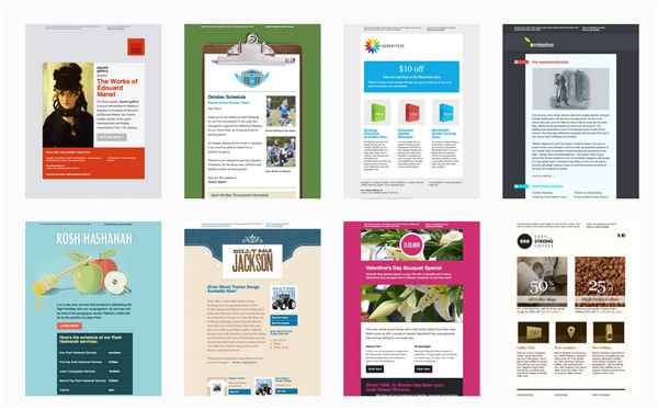 Cool Mailchimp Templates 40 Cool Email Newsletter Templates for Free