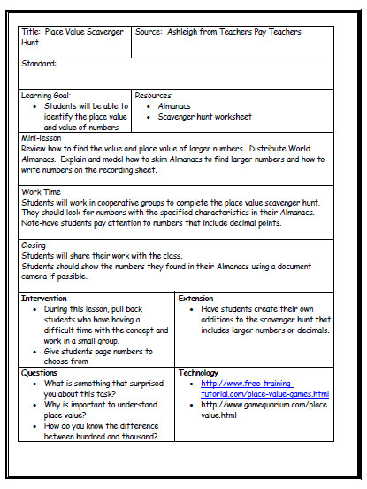 cooperative learning lesson plan template