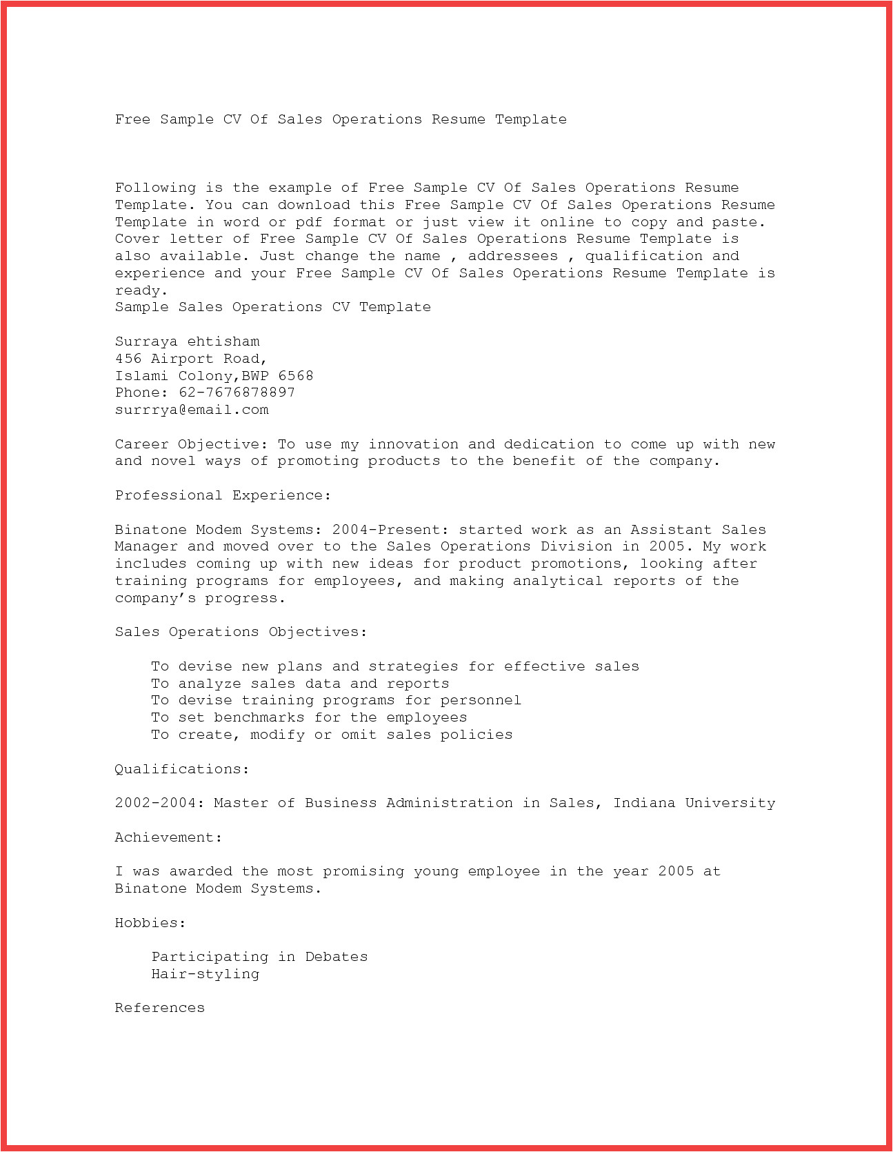 copy and paste cover letter