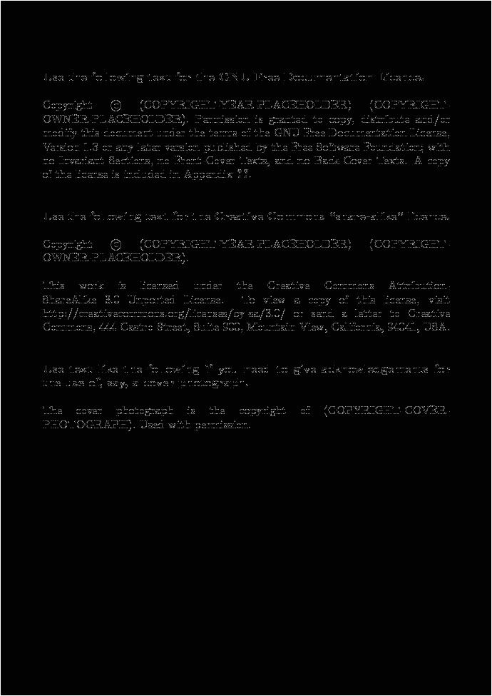 Copyright Template for Book the Business Of Book Publishing the Copyright Page the