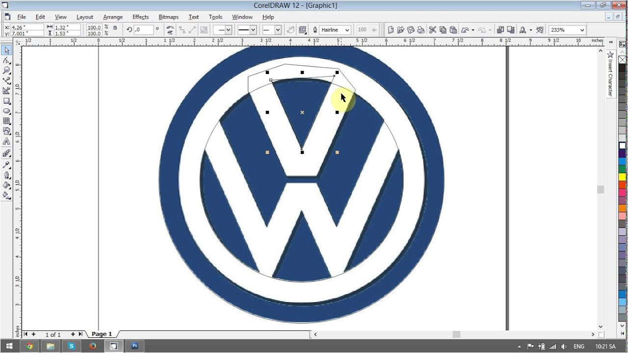 Corel Draw Logo Templates Volkswagen Logo Design Tutorials In Corel Draw Youtube