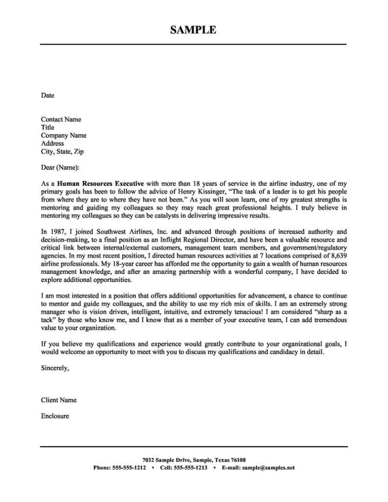 sample cover letter corporate recruiter