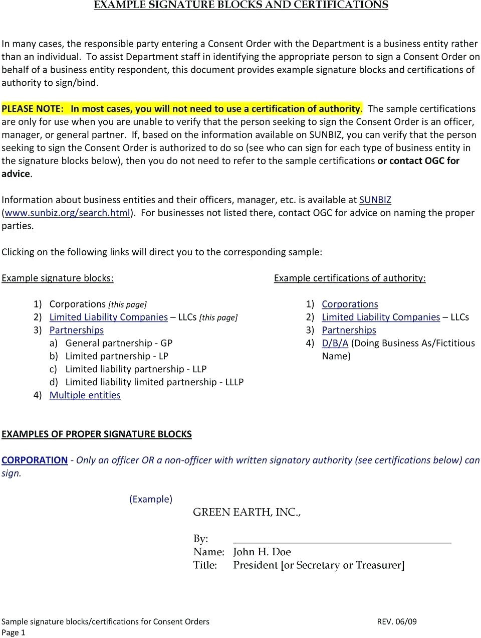 corporate resolution authorized signers template