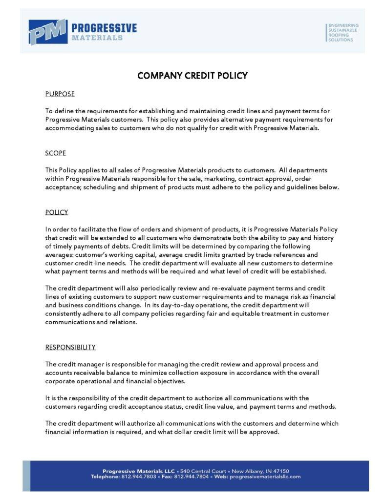 writing a company policy