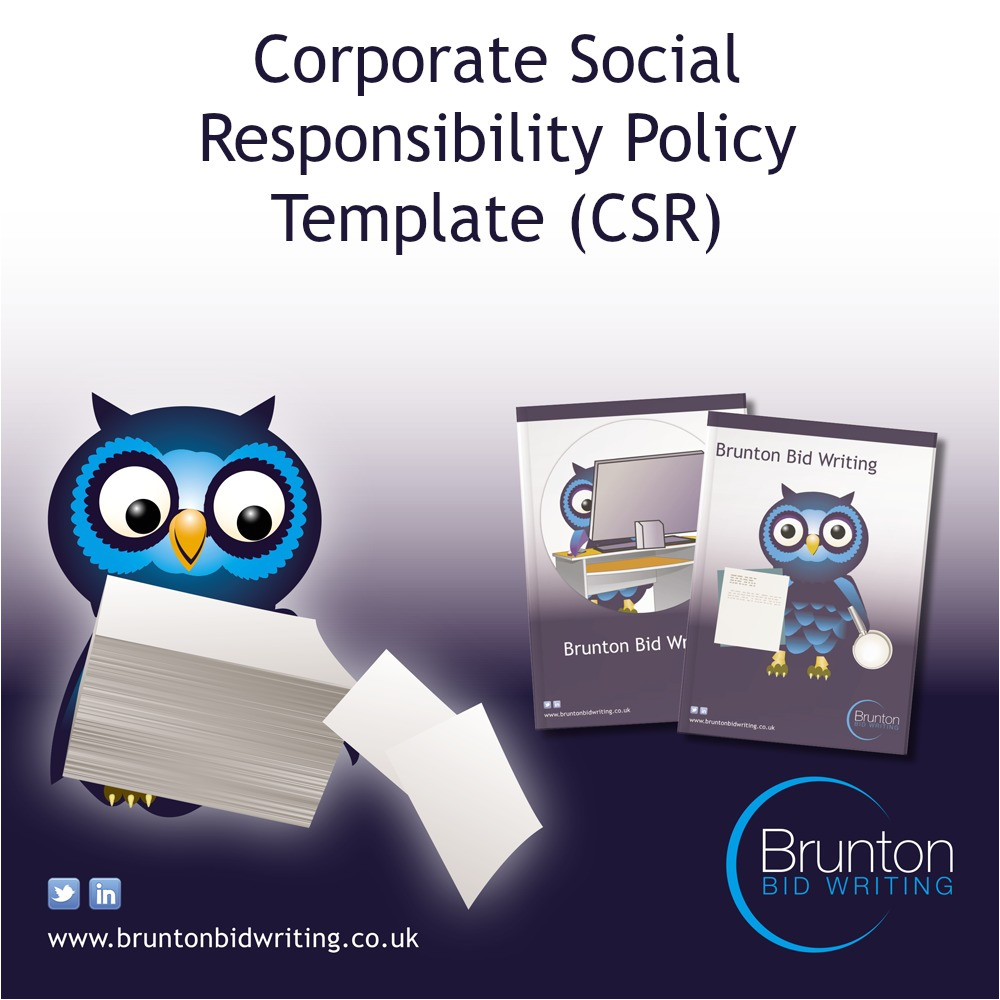 Corporate Responsibility Policy Template Corporate social Responsibility Policy Template for