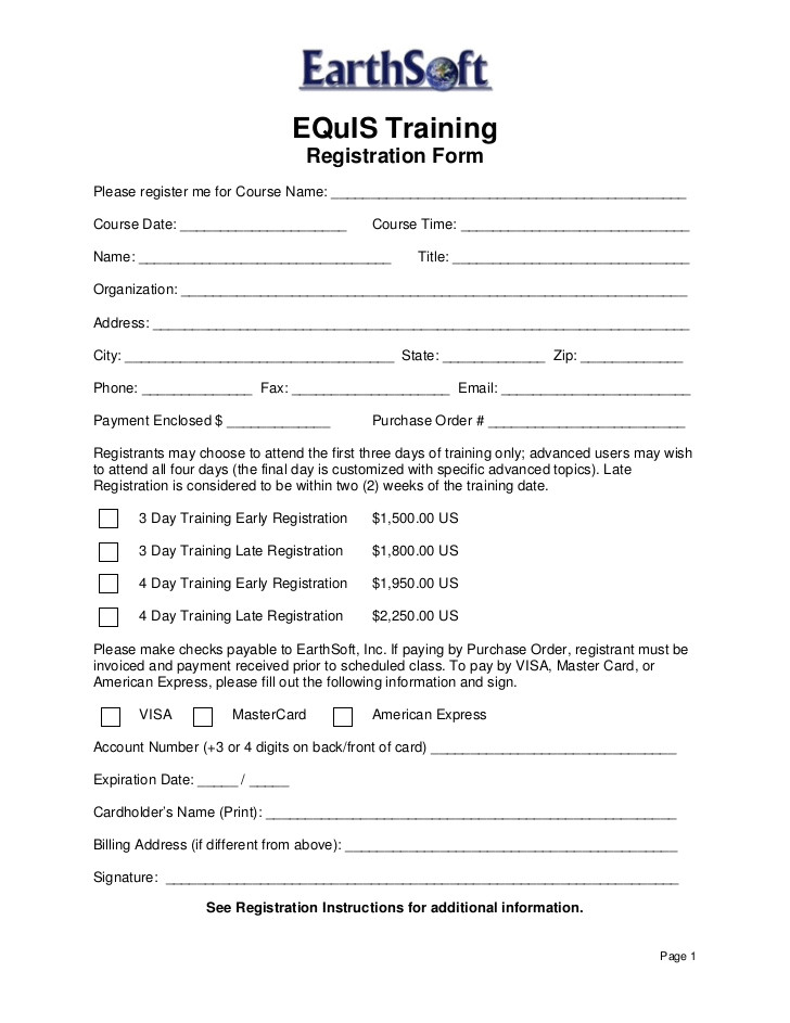 equis 5 open training registration form 2009