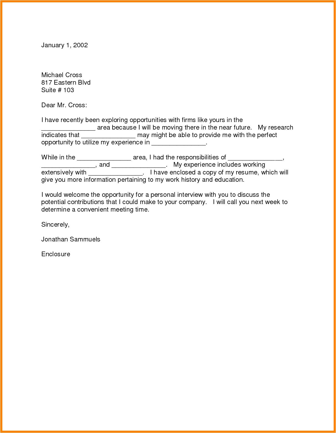 5 relocation cover letter