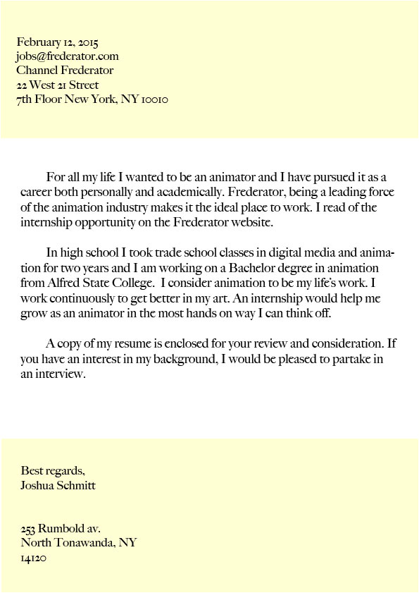 resume and cover letter draft