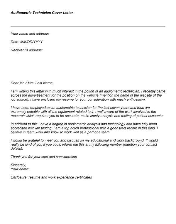 proper radiologic technologist cover letter