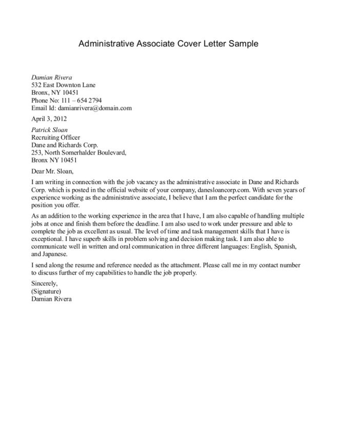 Cover Letter Examples for Retail Sales associate with No Experience Cover Letter Sample for Sales associate Resignation