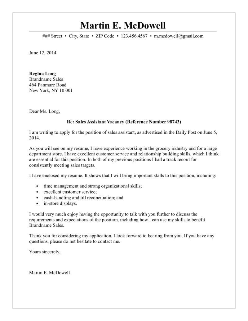 Cover Letter Examples for Sales assistant No Experience Cover Letterles Doc Travel Consultant No Experience