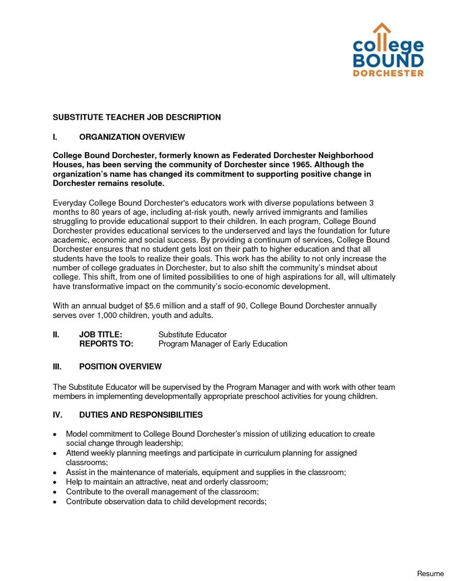 substitute teacher cover letter example substitute teacher resume sample template entry level samples