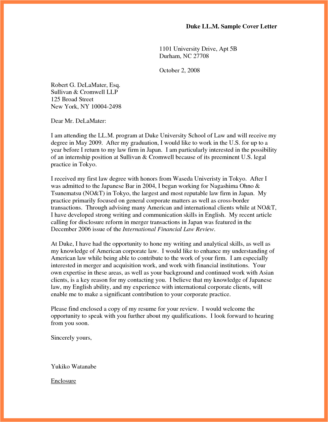 Cover Letter Examples for University Jobs Sample Cover Letter University Best Letter Sample