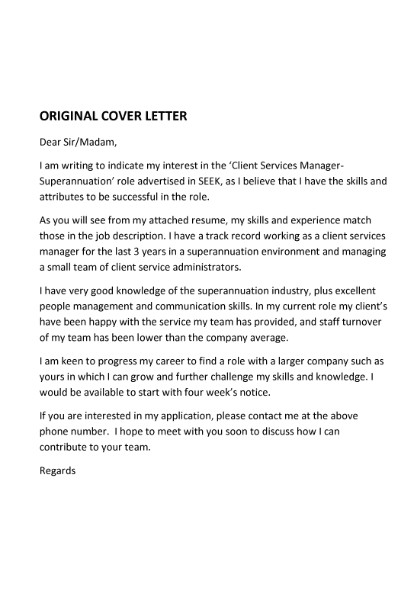 example expression of interest letter for a job
