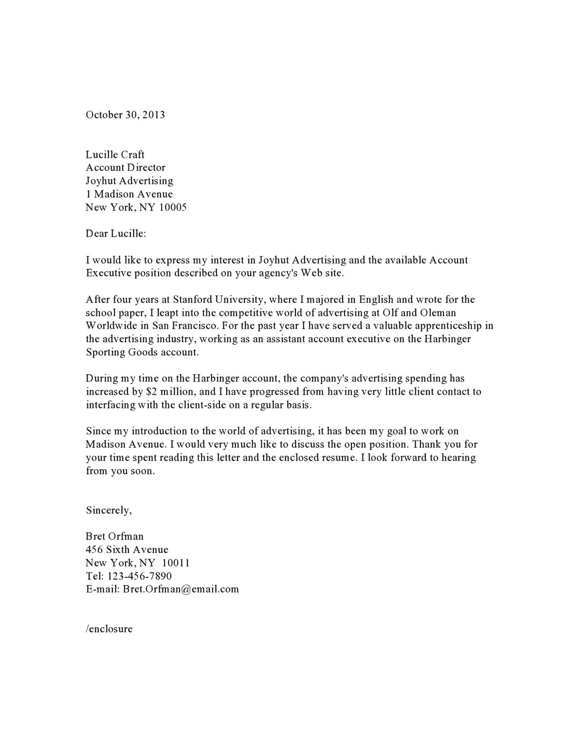 Cover Letter Exsamples Download Cover Letter Professional Sample Pdf Templates
