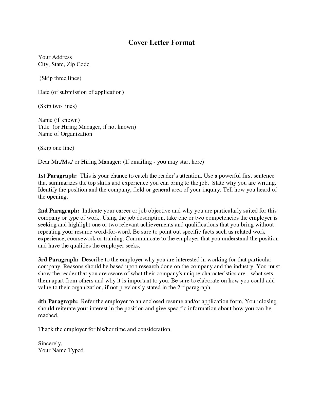 cover letter format 7575 respond