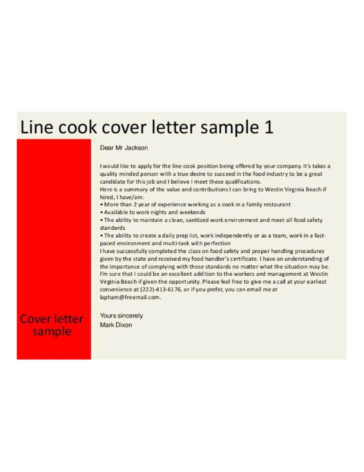 Cover Letter for A Cook Position Basic Line Cook Cover Letter Samples and Templates