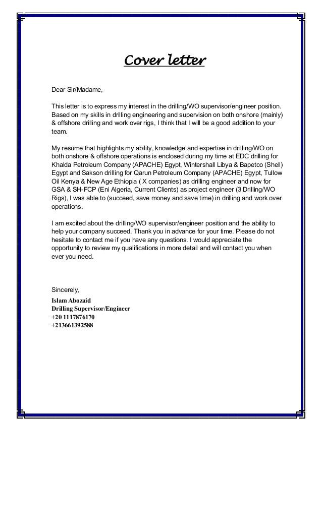 islam abozaid cv cover letter algeria 43536195