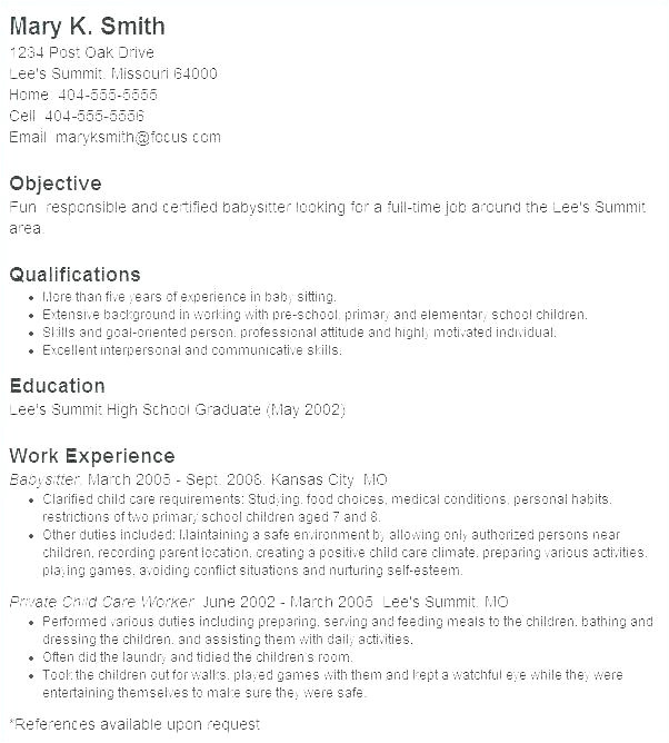 Cover Letter for A Nanny Position with No Experience Cover Letter for A Nanny Position with No Experience