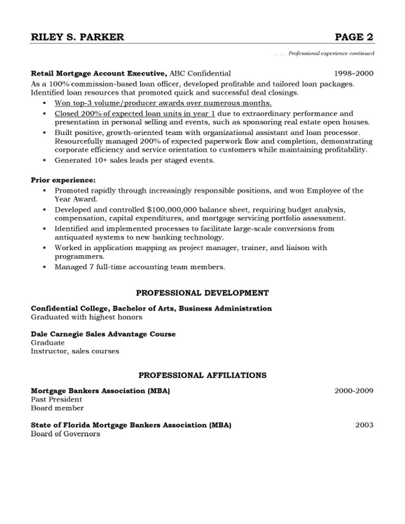 advertising agency account executive resume