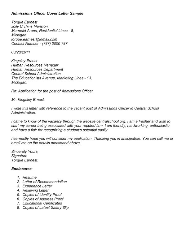 Cover Letter for Admissions Officer Correctional Officer Cover Letter Resume Badak
