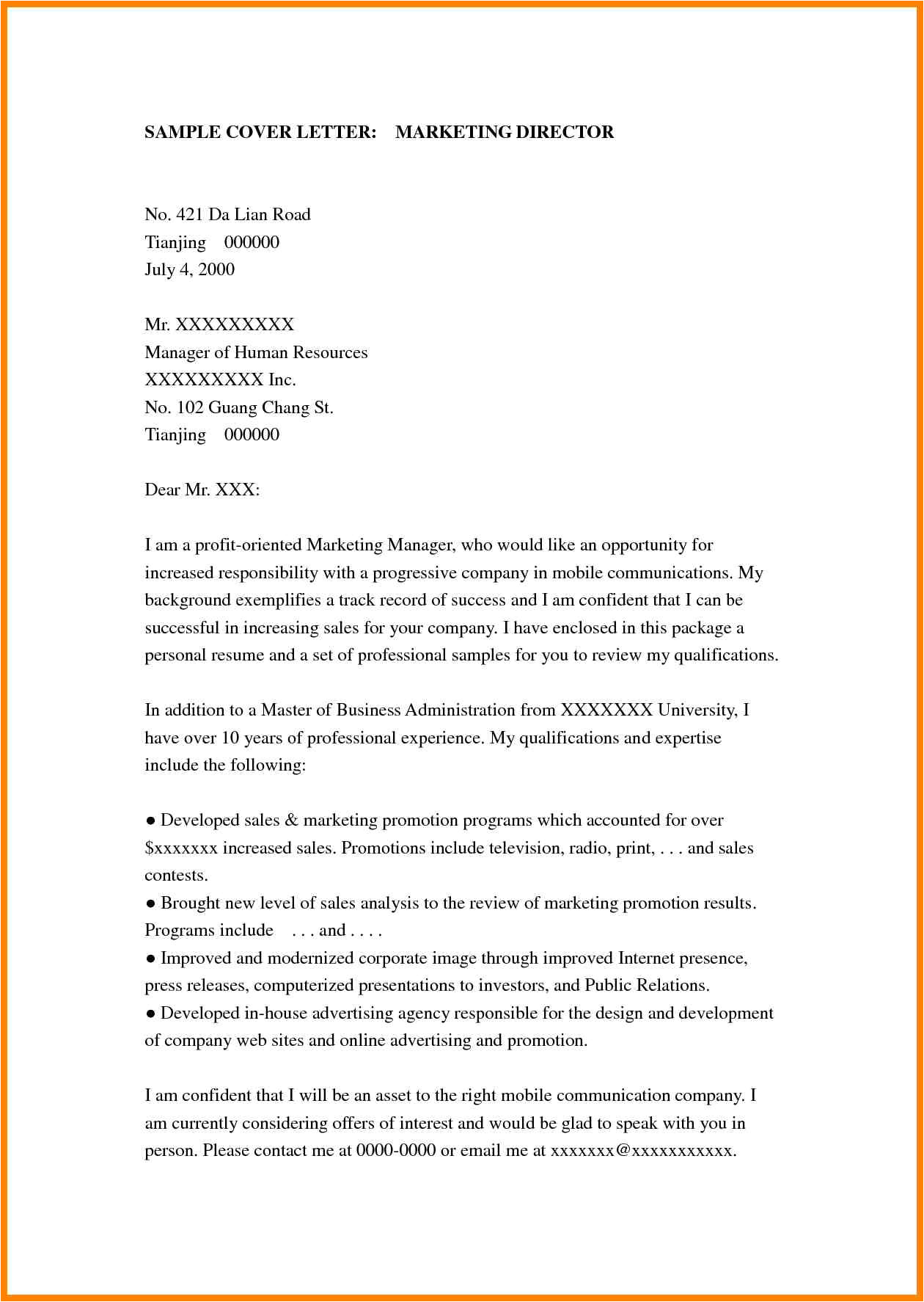 7 creative cover letter for advertising agency