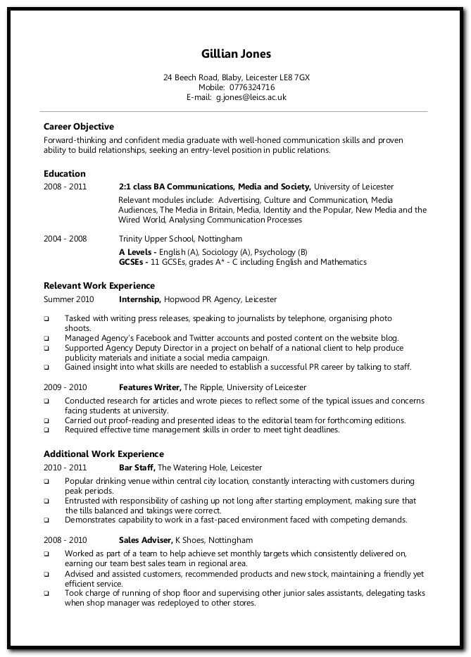 university job application cover letter