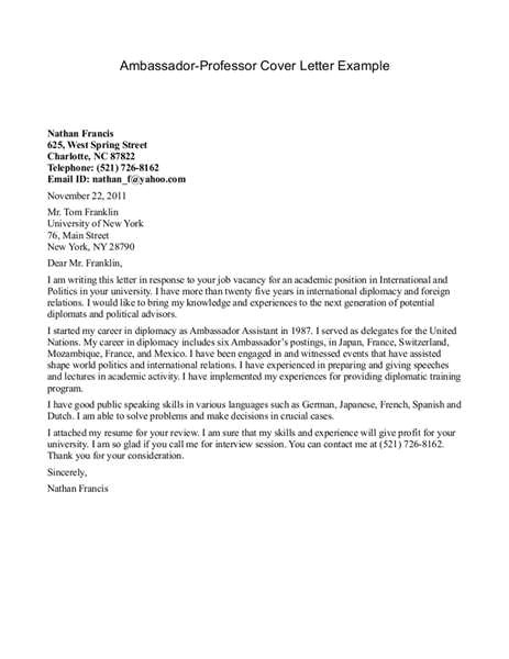 assistant professor cover letter