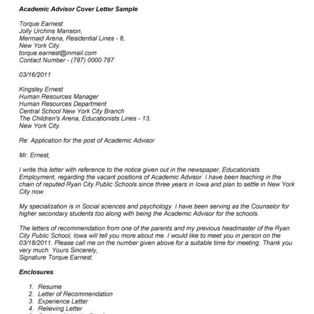 proper academic cover letter sample