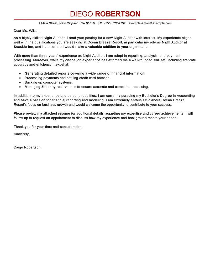 sample application letter for audit