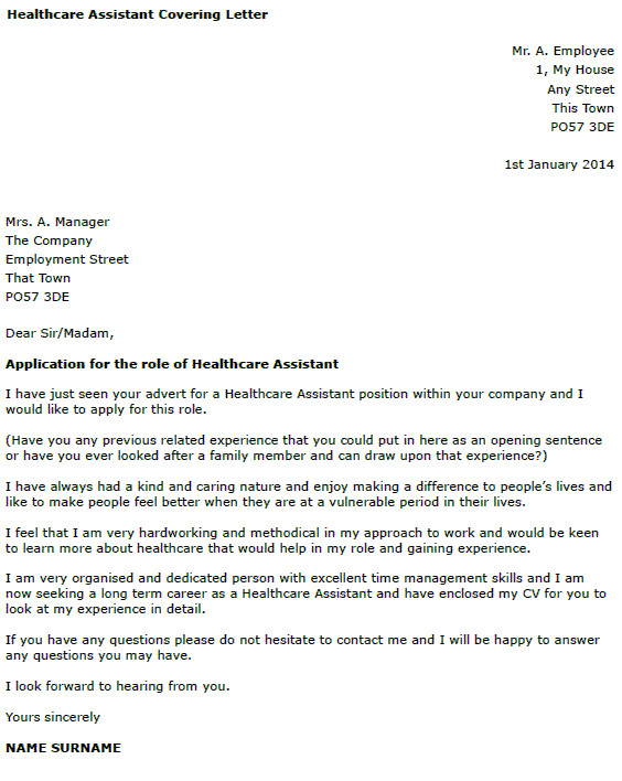 cover letter for care worker no experience