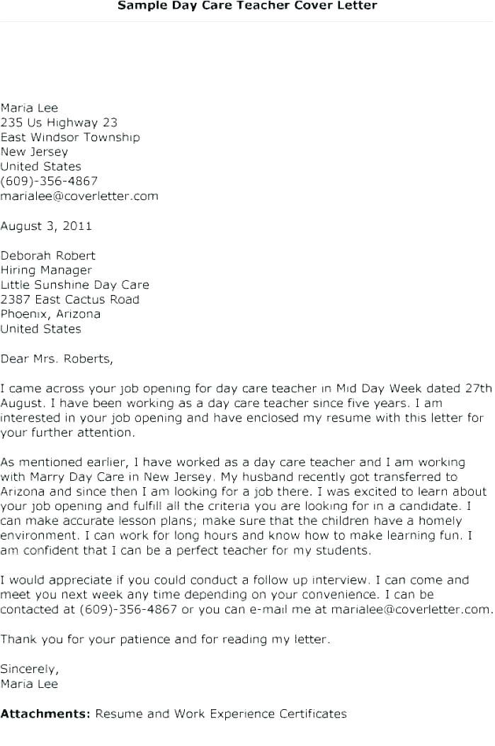 cover letter for caretaker position