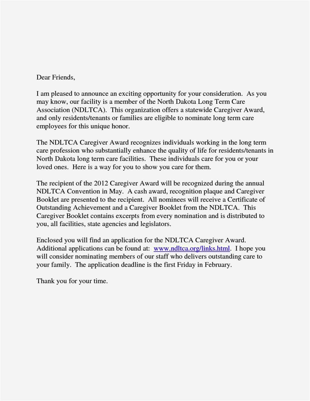 cover letter for caretaker