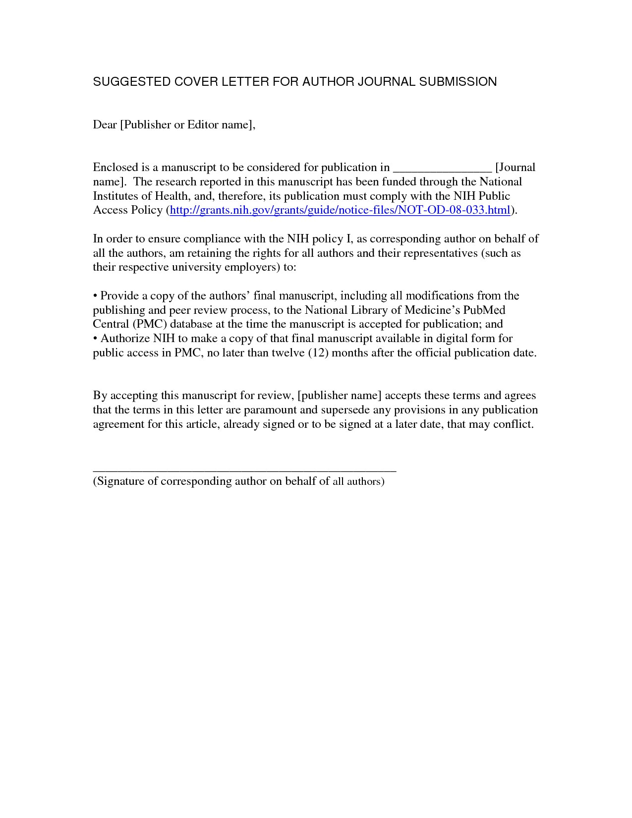 Cover Letter for Case Report Cover Letter for Journal Submission Example Cover Letter