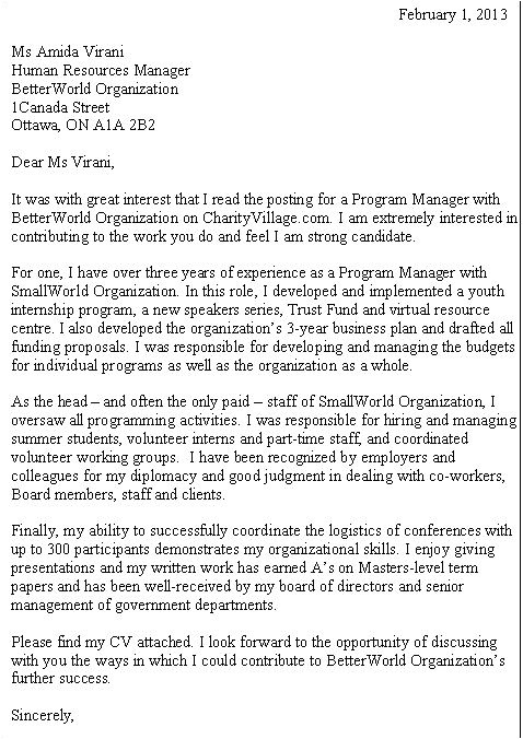 Cover Letter for Charity Job Career Q Demonstrating Quot Best Fit Quot In A Cover Letter
