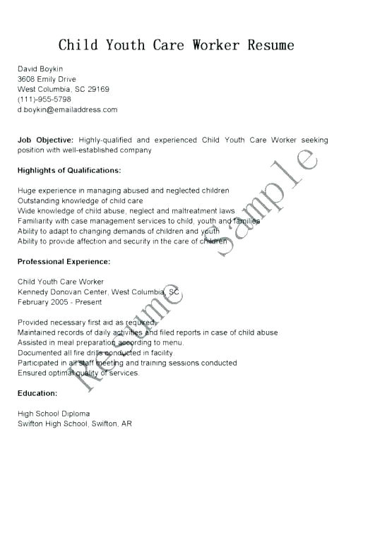 Cover Letter for Child and Youth Worker Sample Cover Letter for Youth Worker with No Experience