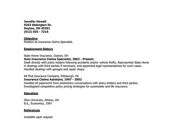 Cover Letter for Claims Adjuster Position andu Us Urlscan Io