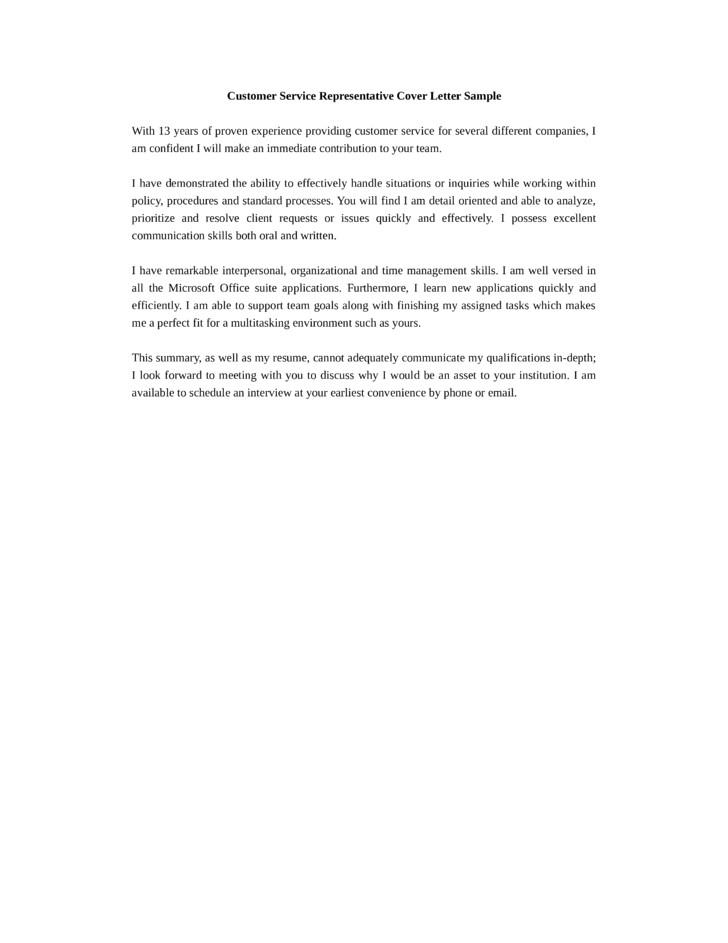basic branch customer service representative cover letter samples templates