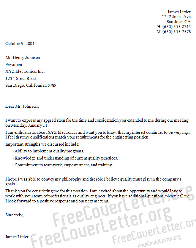 cover letter for internship electronics engineering